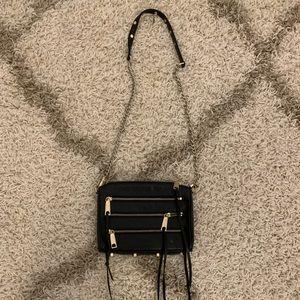 Black Rebecca minkoff zipper purse